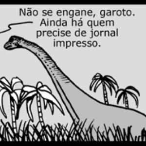 Tirinha: O moderno jornalismo brasileiro