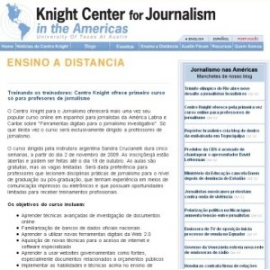 Centro Knight oferece curso gratuito para professores de Jornalismo